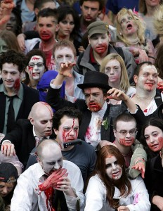 """Attack of the Killer Zombies """"Your idea of fun is… skewed Barton."""""""