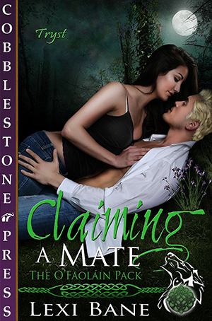 Claiming a Mate (The O'Faoláin Pack Book 2) Remy never expected to become Alpha of his clan, he never expected to find his mate, and he sure didn't expect his mate to be a spicy bit of goods that wasn't afraid of him and was more than willing to stand up to him and let him have it. Marie wasn't looking for her mate either. But when they met, she was determined to make the best of it all. Even if that meant that he was going to have to work for it